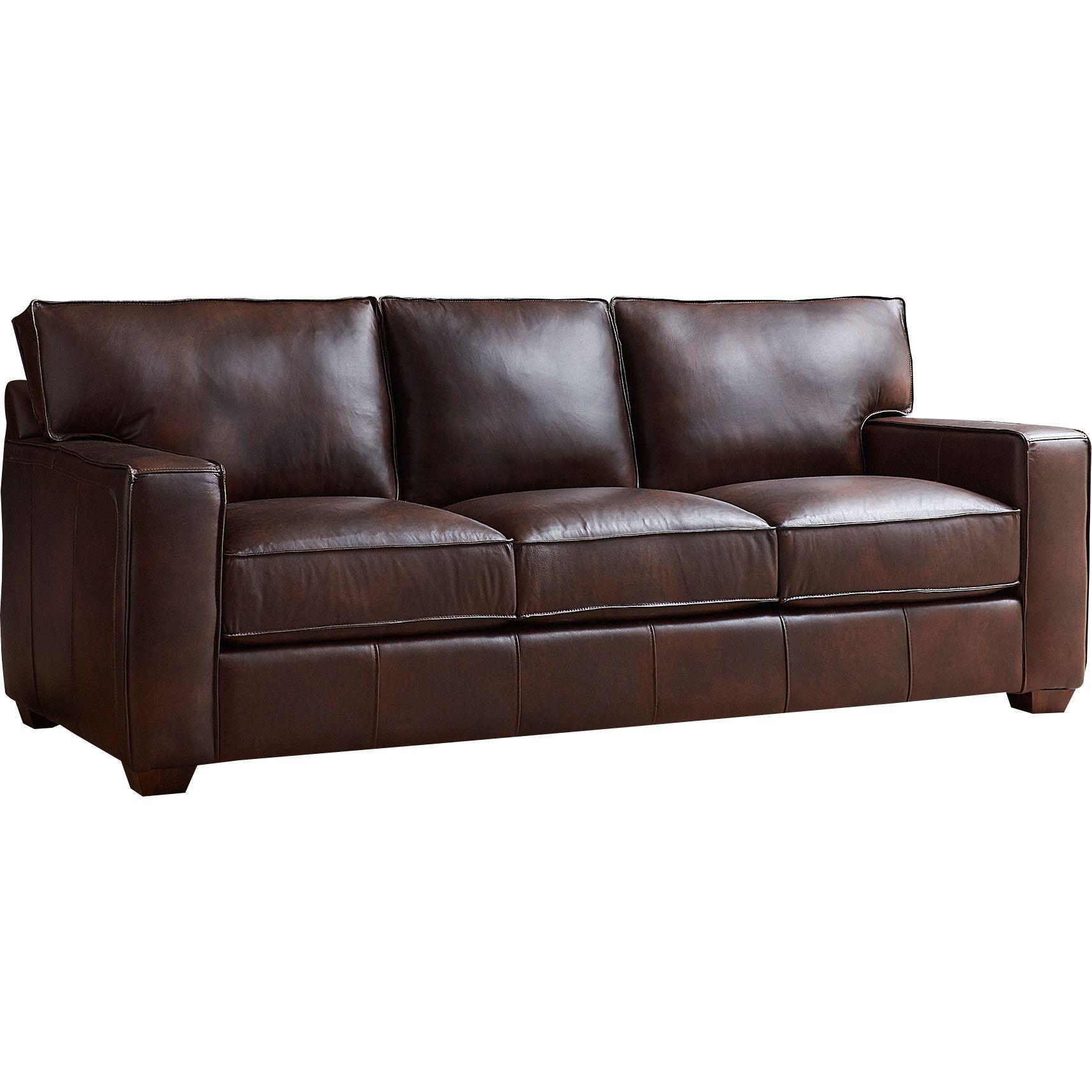 Pratt Leather Sofa | Living Room | Sofa, Leather sofa, Sofa ...