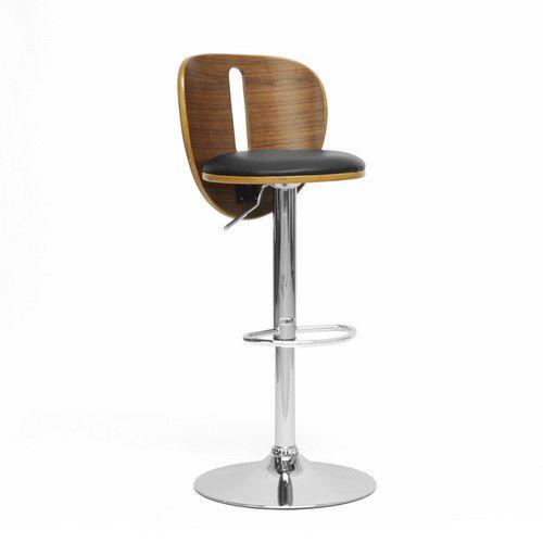 Superb Baxton Studio Adjustable Height Swivel Bar Stool Studios Uwap Interior Chair Design Uwaporg