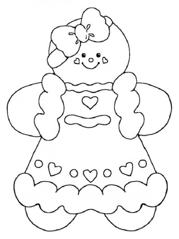 christmas coloring pages gingerbread girl