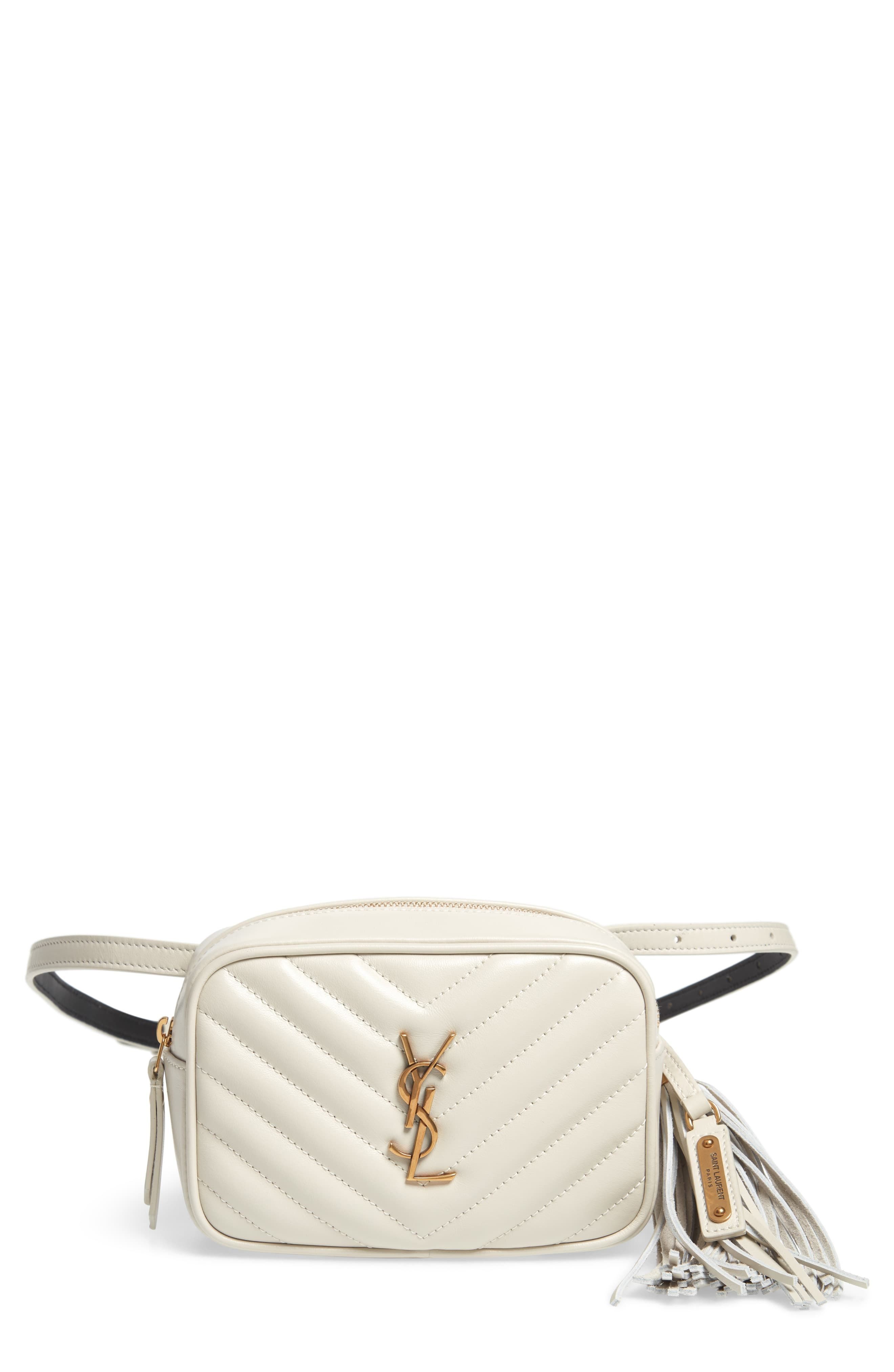 Saint Laurent Lou Quilted Leather Belt Bag With Tassel