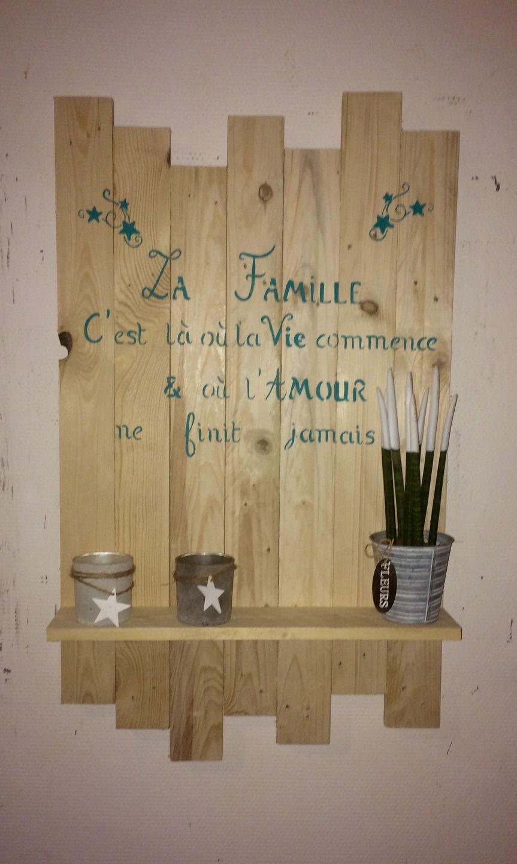 cadre en bois de palette avec tag res citation diy. Black Bedroom Furniture Sets. Home Design Ideas