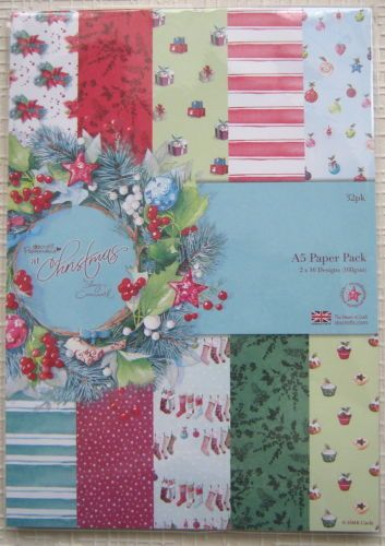 Papermania At Christmas by Lucy Cromwell A5 Paper Pack FULL PACK