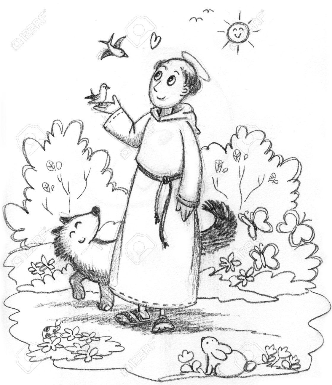 Sint Franciscus Kleurplaat Google Zoeken Sint Franciscus Thema Sprookjes