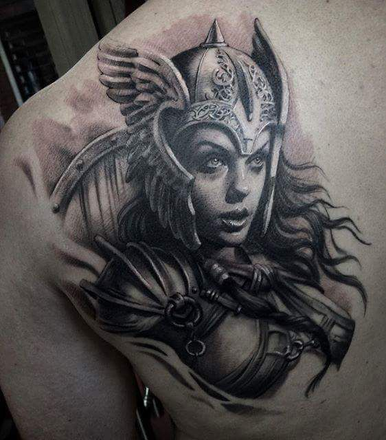 Female Warrior Drawing Ideas Warrior Tattoos Viking Warrior
