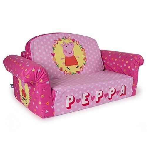 Childrens Sofa Bed Peppa Pig Couch 2 In 1 Flip Open Foam