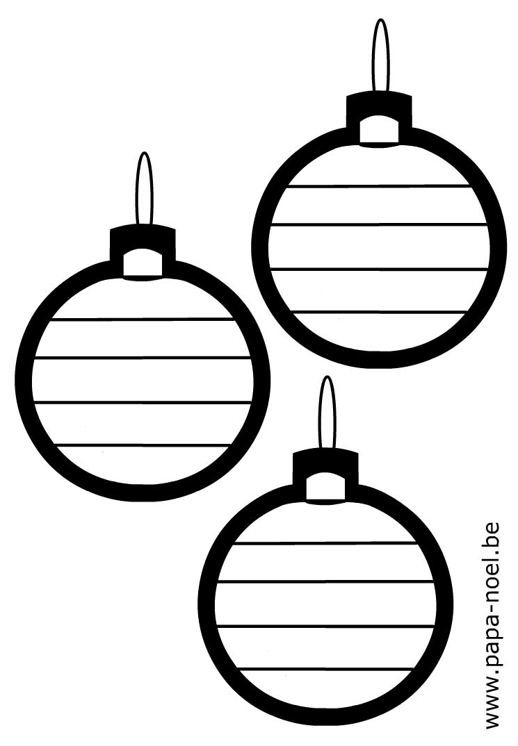 Coloriage de boule de noel gratuit imprimer dessin de - Coloriages noel maternelle ...