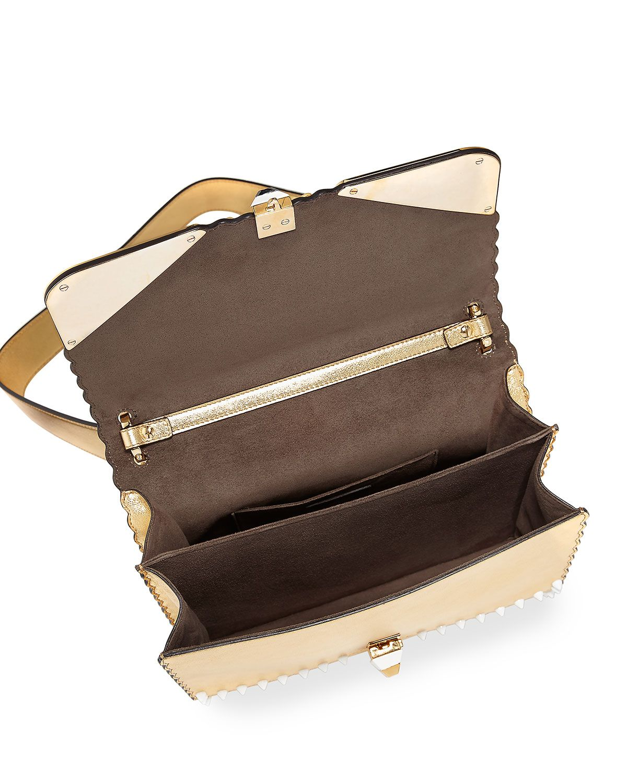 Fendi Kan I Wonder Monster Shoulder Bag, White/Gold