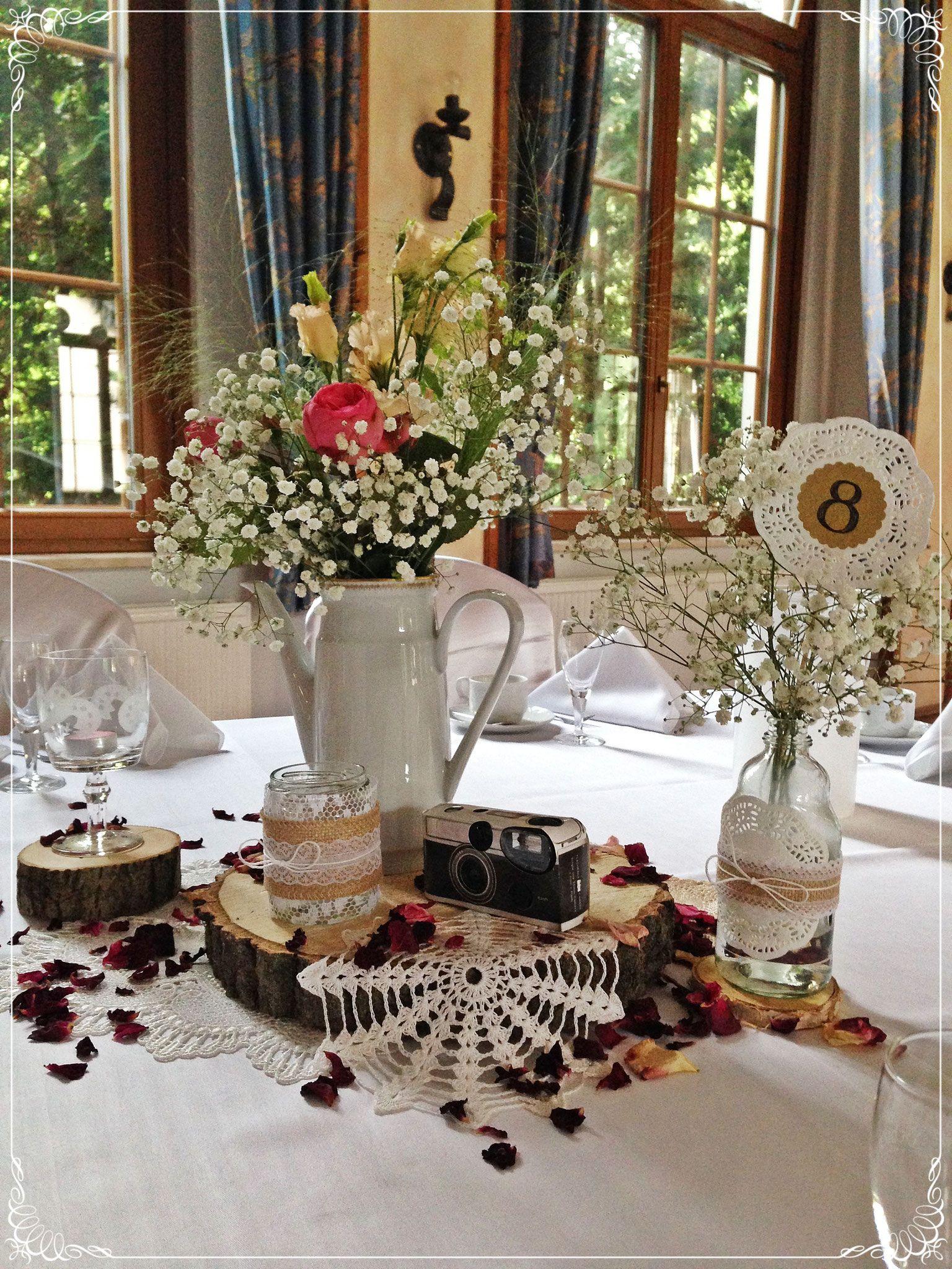Hochzeitsdeko Rustikal hochzeitsdeko individuell romantisch vintage rustikal boho mit
