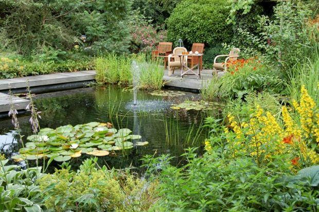 Wasserspiele im Garten \u2013 Gestaltungsideen mit Teich und - wasserfall selber bauen