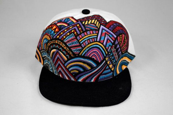 Tribal Colour In Snapback Cap With Fabric Pens