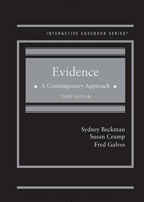 Epub Evidence A Contemporary Approach Icb Interactive Casebook Series By Sydney Beckman Su Livre Telecharger Gratuit The Book