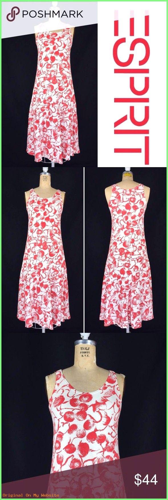 Sommerkleider 2019: 80's Esprit Cherry Print Cotton Jersey ...