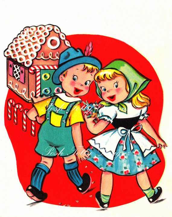 hansel and gretel and the gingerbread house vintage digital download rh pinterest co uk hansel and gretel candy house clipart Hansel and Gretel Movie