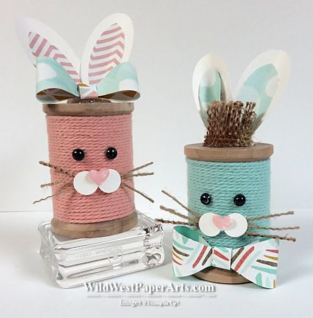 Bakers Twine Bunnies at WildWestPaperArts.com