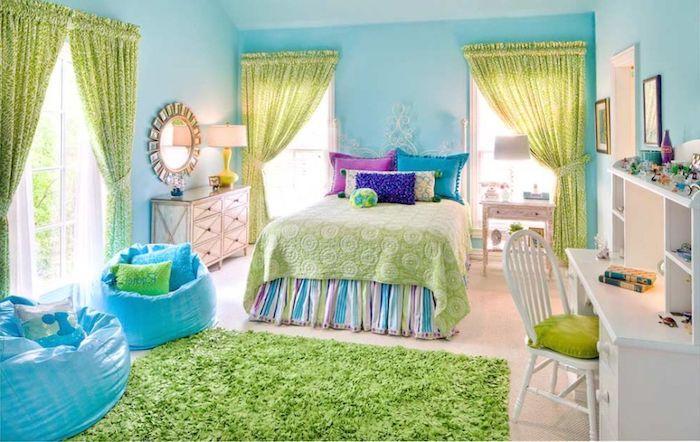 1001 ideen f r jugendzimmer m dchen einrichtung und deko jugendzimmer m dchen gr ne. Black Bedroom Furniture Sets. Home Design Ideas