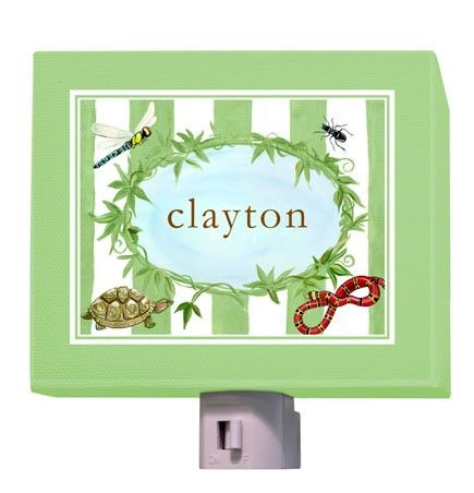 """Pond Life"" - Personalized Night Light from Oopsy daisy,  Fine Art for Kids."