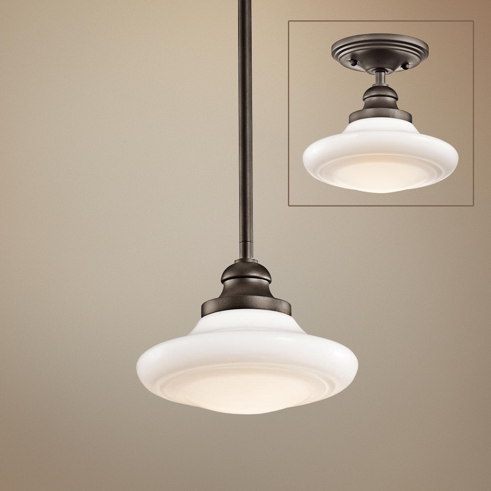 "Kichler Keller 8"" Wide Olde Bronze Pendant Light"