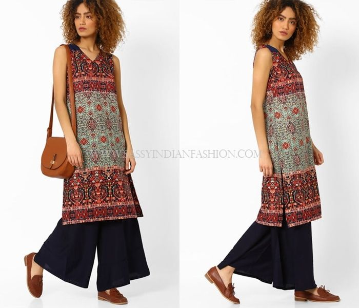 4b941eb7952a32 How To Wear Palazzo Pants With Kurta?   Palazzo Designs   How to ...