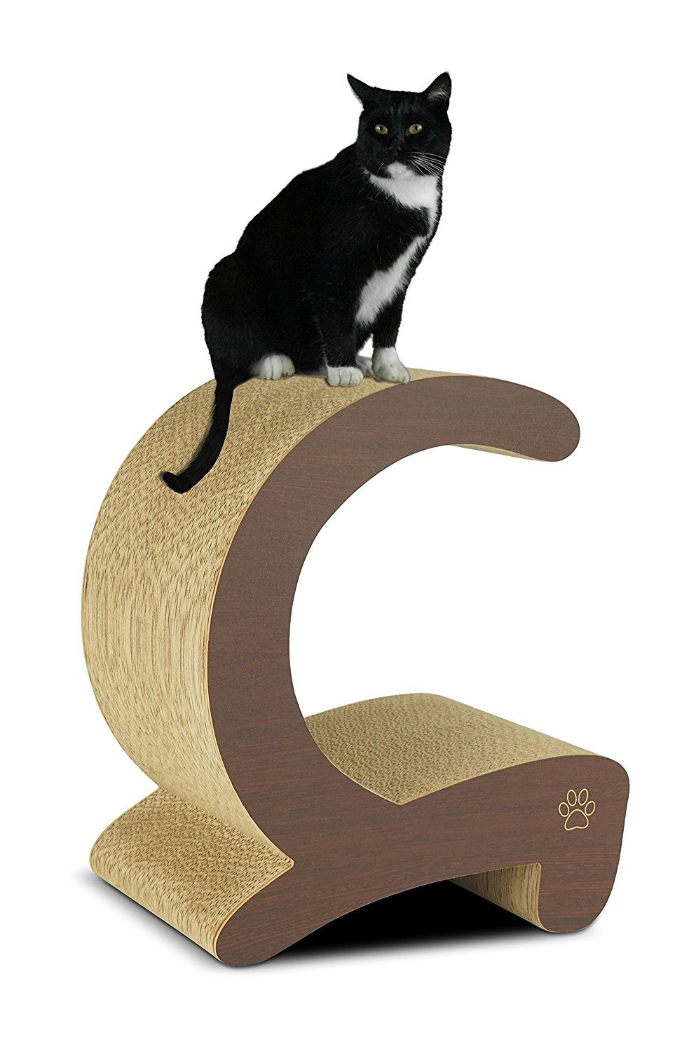 Oliver and Iris Premium Cat Scratcher C Curved Post and