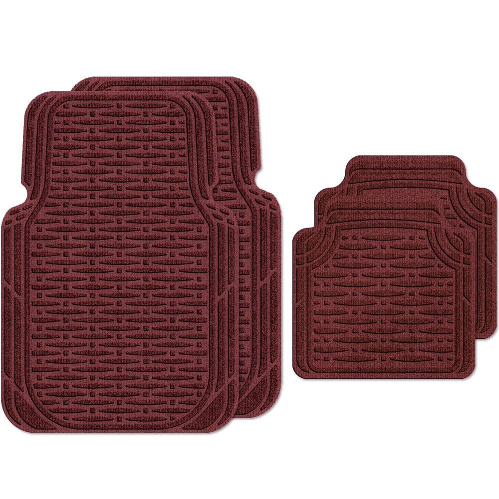 Vehicle Floor Mats Traction Large Set Of 4 In Auto Mats With Images Car Mats Floor Mats Cars Organization