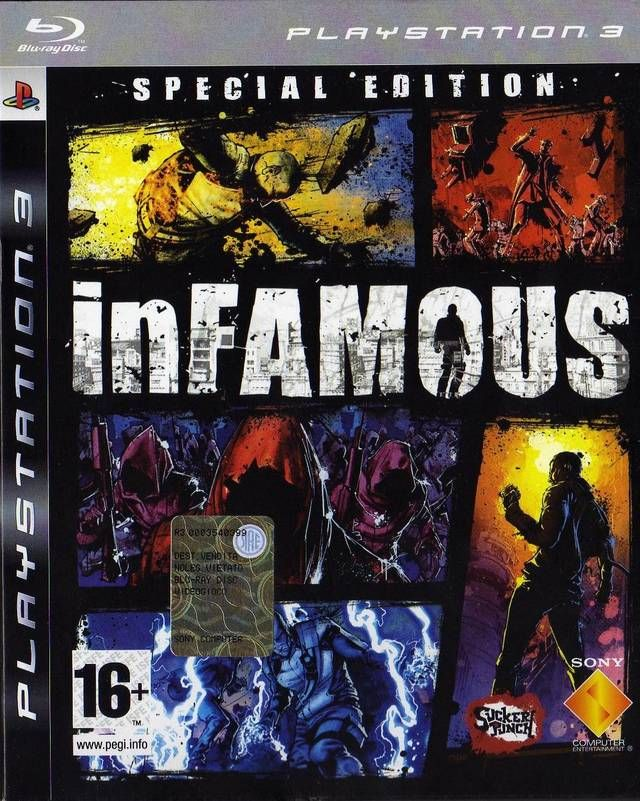 Infamous Special Edition Box Front Video Game Reviews Game Reviews Games