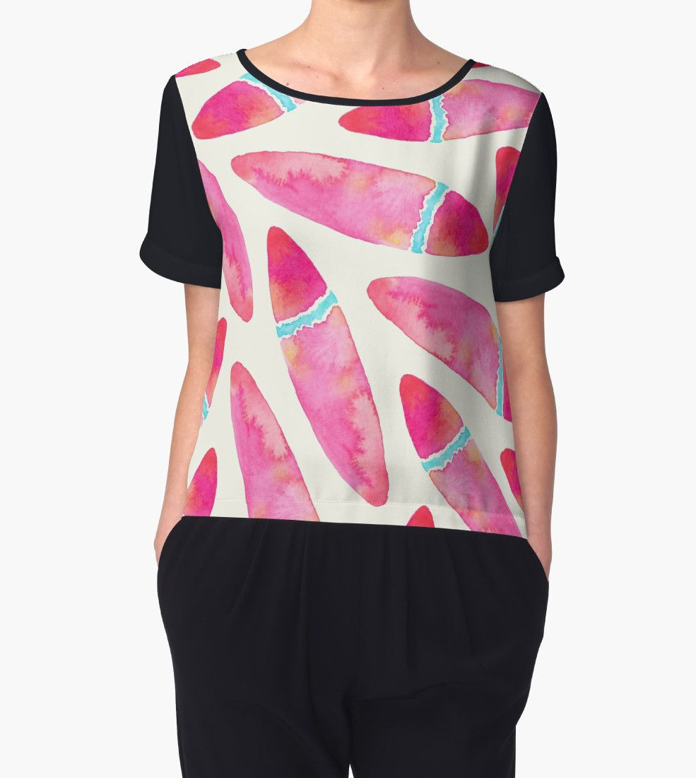 Pink Surf by amayabrydon @redbubble #pink #surfboards #surf #watercolor #abstract #summer #design #oceanlover #redbubble #fashion #women