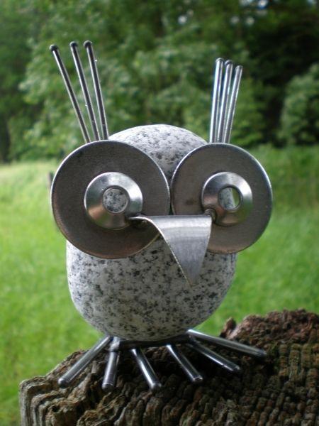 Edelstahlvogel Eule Gartendekoration For Sale Eur 17 90 See Photos Edelstahlvogel Eule Edelstahlfigur Aus Rostfre Altmetallkunst Gartenfiguren Steine