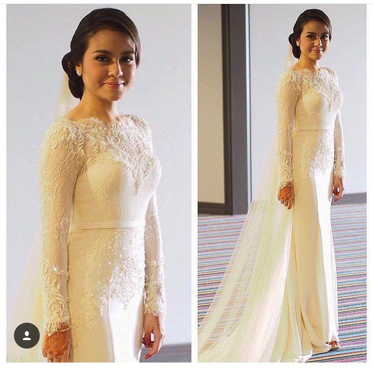 fdd2af322e55 baju tunang mawar rashid   inspirasi baju tunang lawa   Wedding dresses,  Dresses, Lace tops