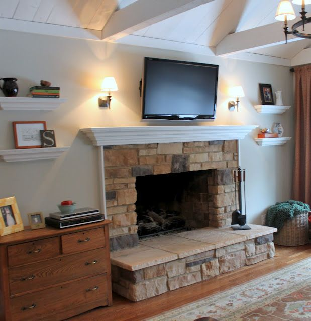 Paint Colors For Family Room With Fireplace Part - 40: Hazy Skies By BM Favorite Paint Colors: Family Room/living Room