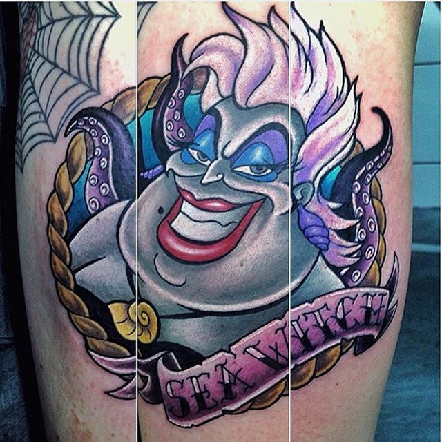 In love with this ursula tattoo by grahamlawrencetattoos for Ink fiends tattoo whittier