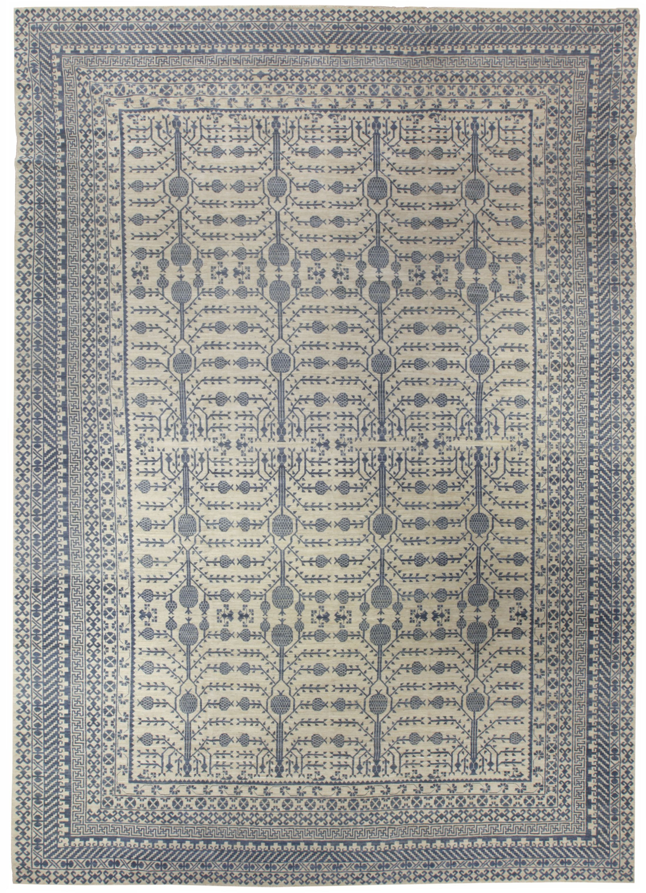 A Large Contemporary Wool Samarkand Khotan Carpet Hand Woven By Traditional Methods Elegant Design And Color Scheme Custo Rugs Modern Area Rugs Square Rugs