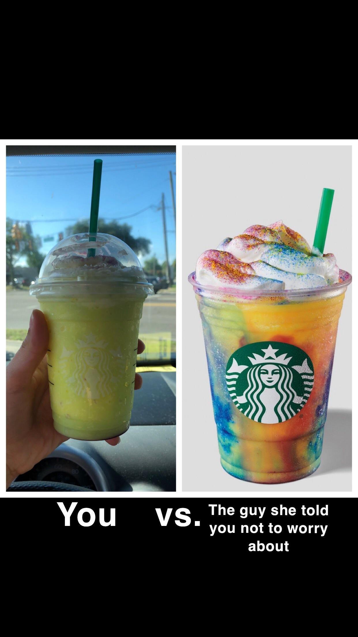 """Starbuck's """"tie dye"""" frappe Starbuck's """"tie dye"""" frappe View"""