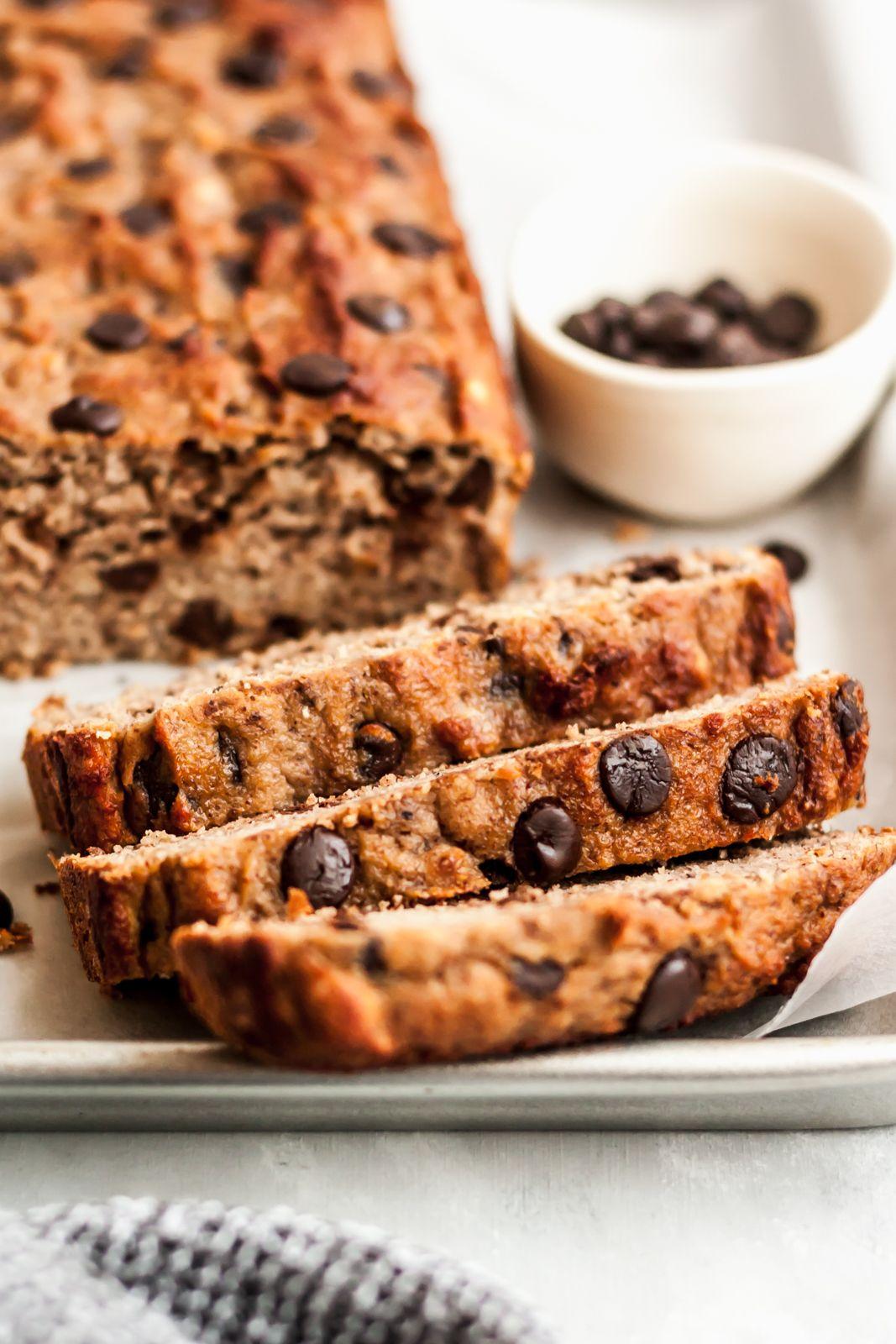 Paleo Chocolate Chip Coconut Flour Banana Bread