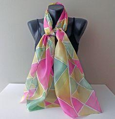 Silk scarf handmade Art.344 Fanny Ready to ship by MarijanaSilk