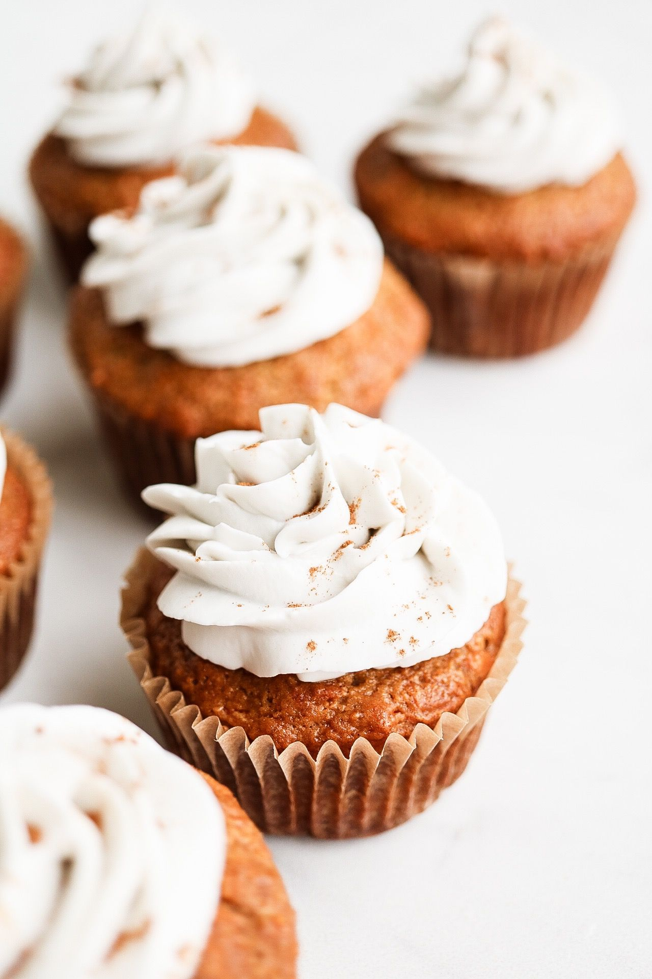 Carrot Cake Cupcakes Coconut Whipped Cream Frosting Vegan