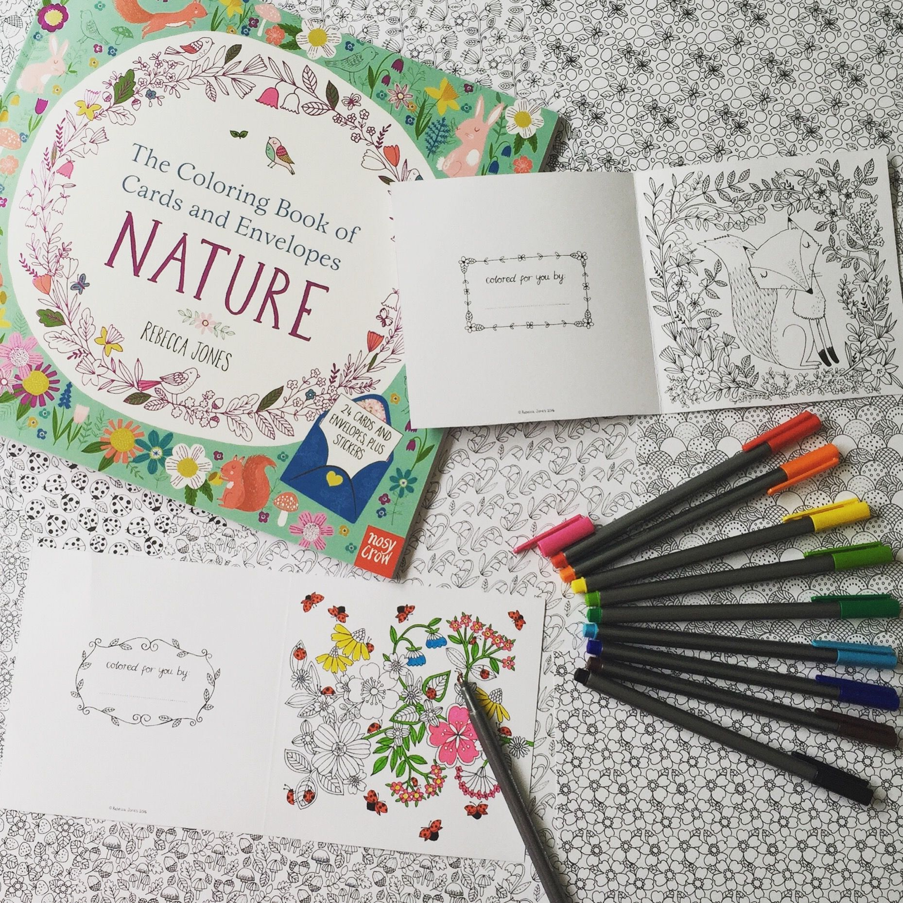 Get Creative And Add Some Color The Coloring Book Of Cards And Envelopes Nature Coloring Books Cards Envelopes Candlewicking
