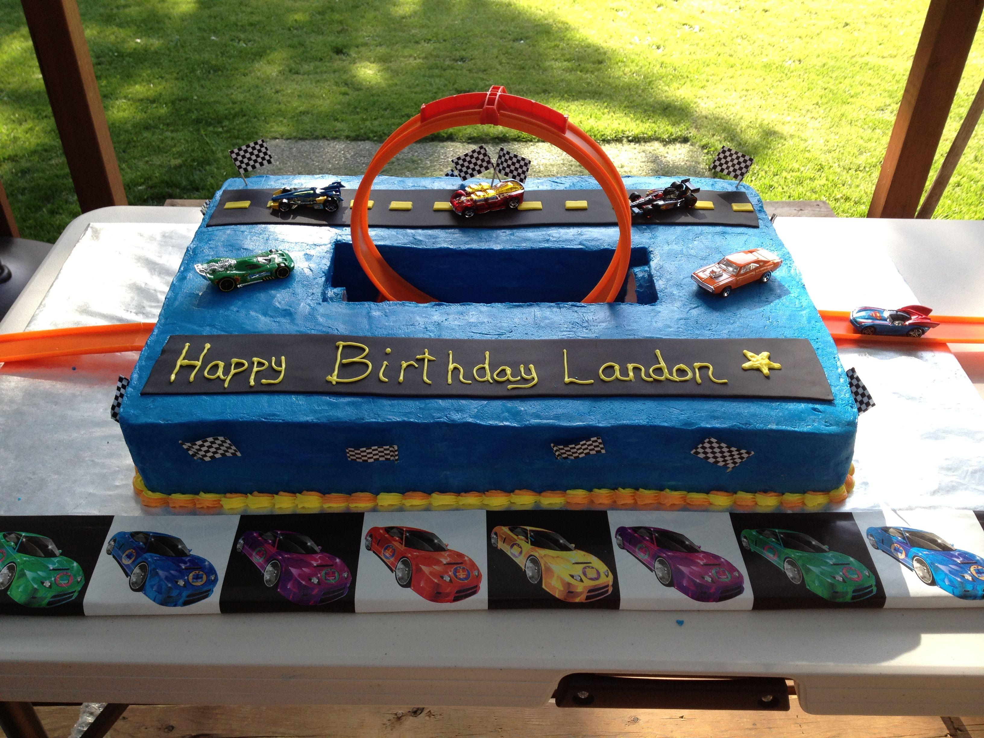 Hot Wheels Loop Birthday Cake Pinteres - Homemade hot wheels birthday invitations