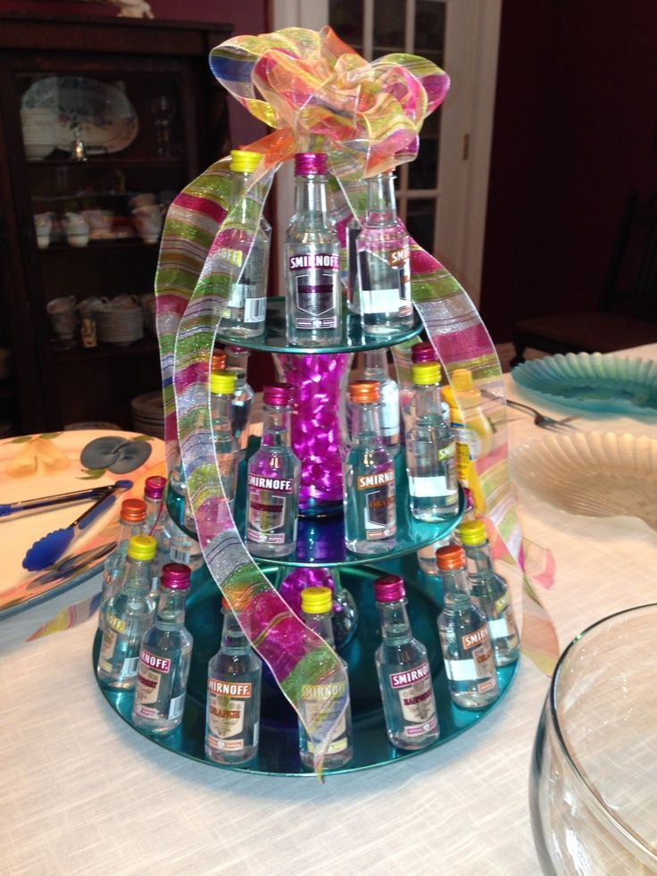 alcohol / mini bottle / liquor birthday cake gift | party ideas for ...
