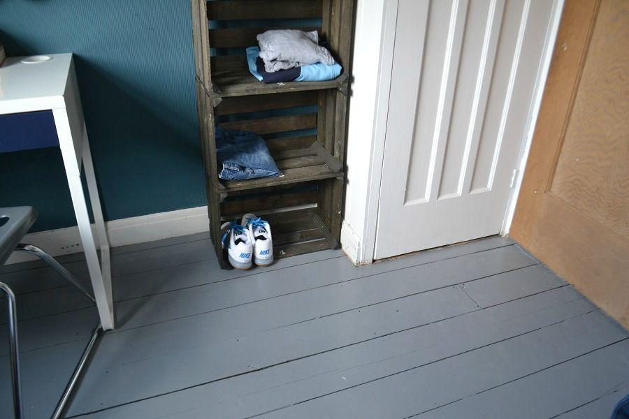 Painted Floorboards using Ronseal Diamond Hard Floor Paint - tidy ...