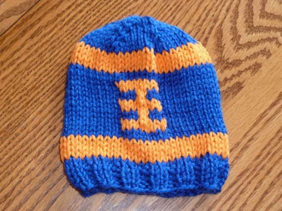 Custom Knitted College Or Nfl Football Team Hats By Knits4noggins
