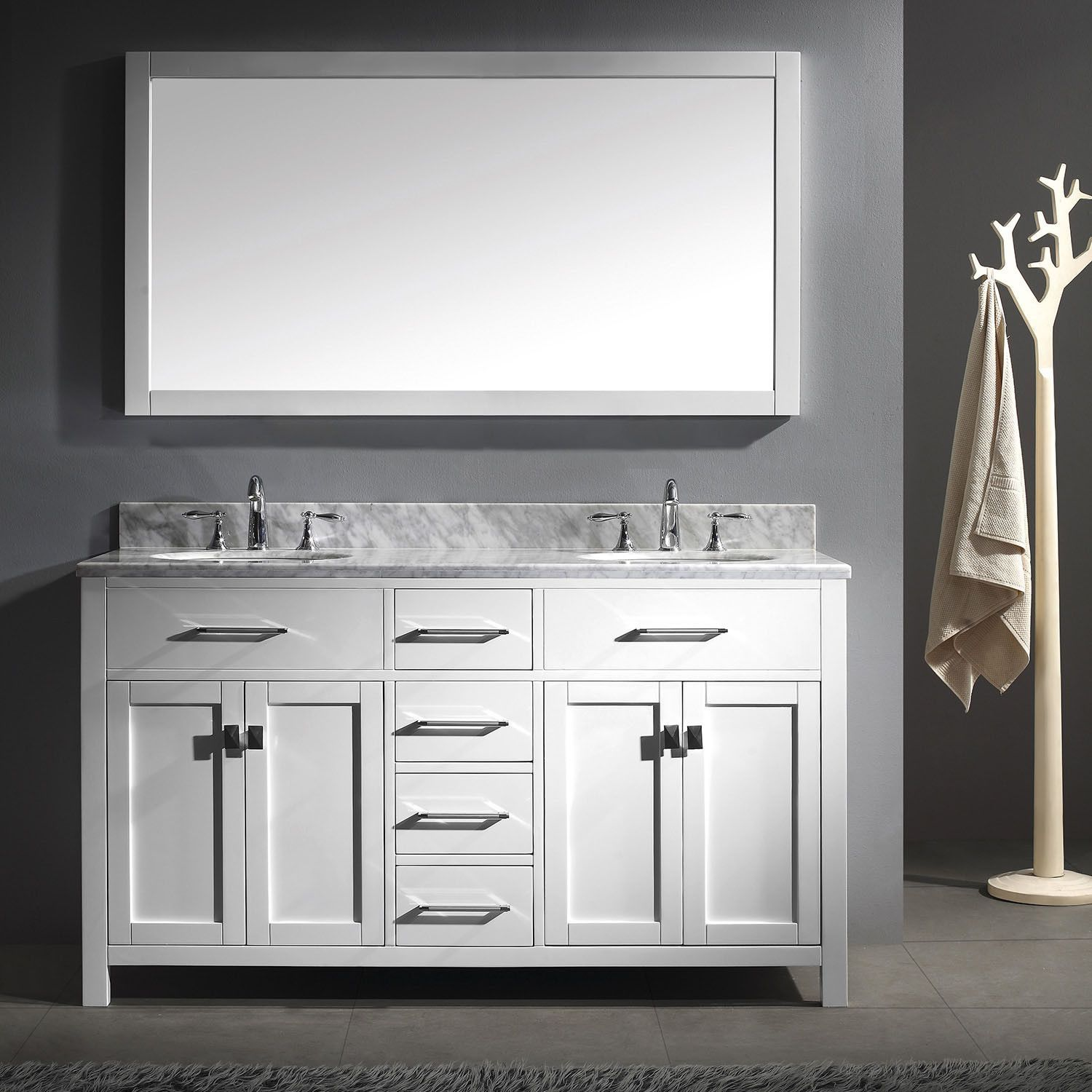 Virtu Usa Caroline 60 48 Inch Bathroom Vanity Double Sink
