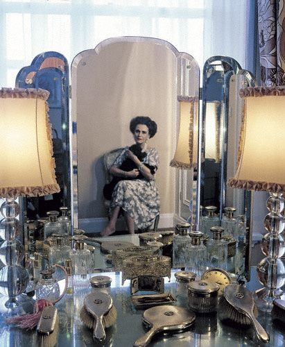 Margaret Duchess of Argyll (1912-1993), photographed in her apartment at the Dorchester in 1981 by Tim Mercer