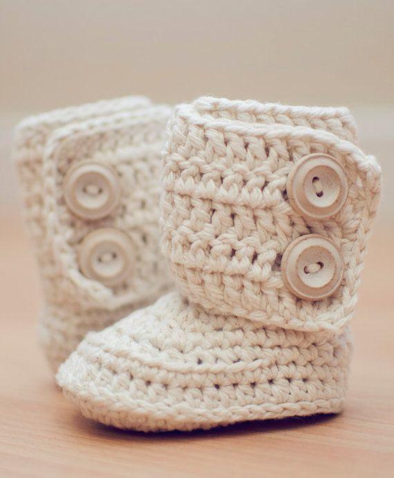 Häkelanl... für Baby Schuhe, häkeln Boot Pattern, Booties Muster ...