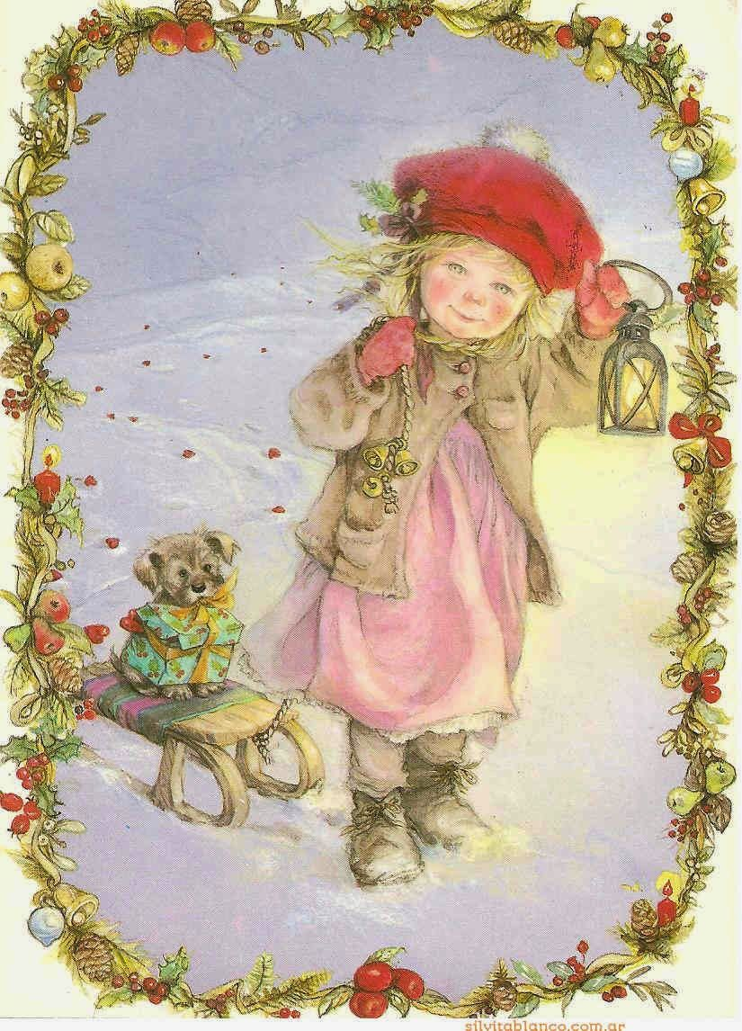 Открытки рождество дети, открытки