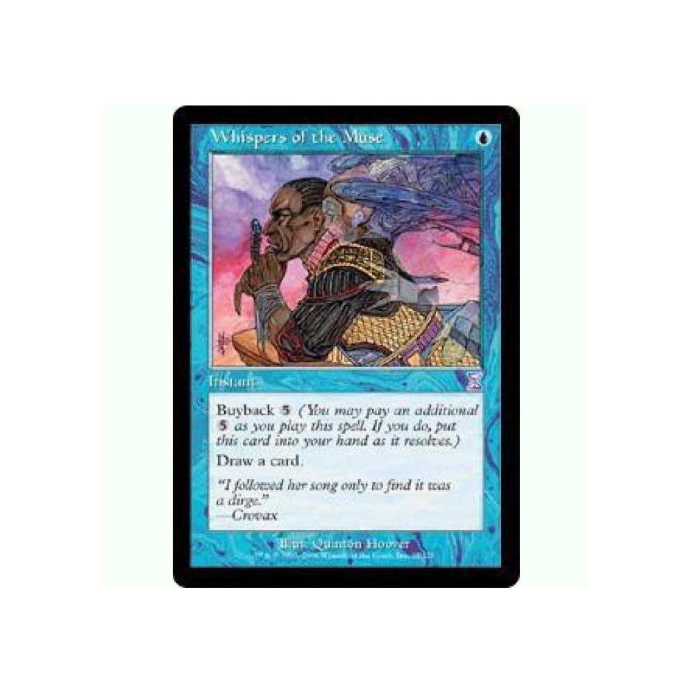 Foil Played MTG Time Spiral Time-Shifted Magic Whispers of the Muse