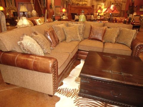 Rustic Furniture Sectional Sofa Cierra Interiors Rustic
