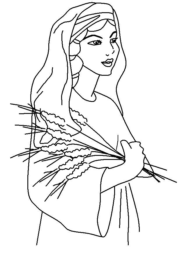 Ruth Coloring Page Bible Crafts