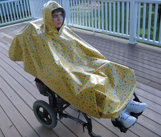Adapting Creatively Wheelchair Rain Poncho Tutorial Wheelchair Rain Poncho Wheelchair Accessories