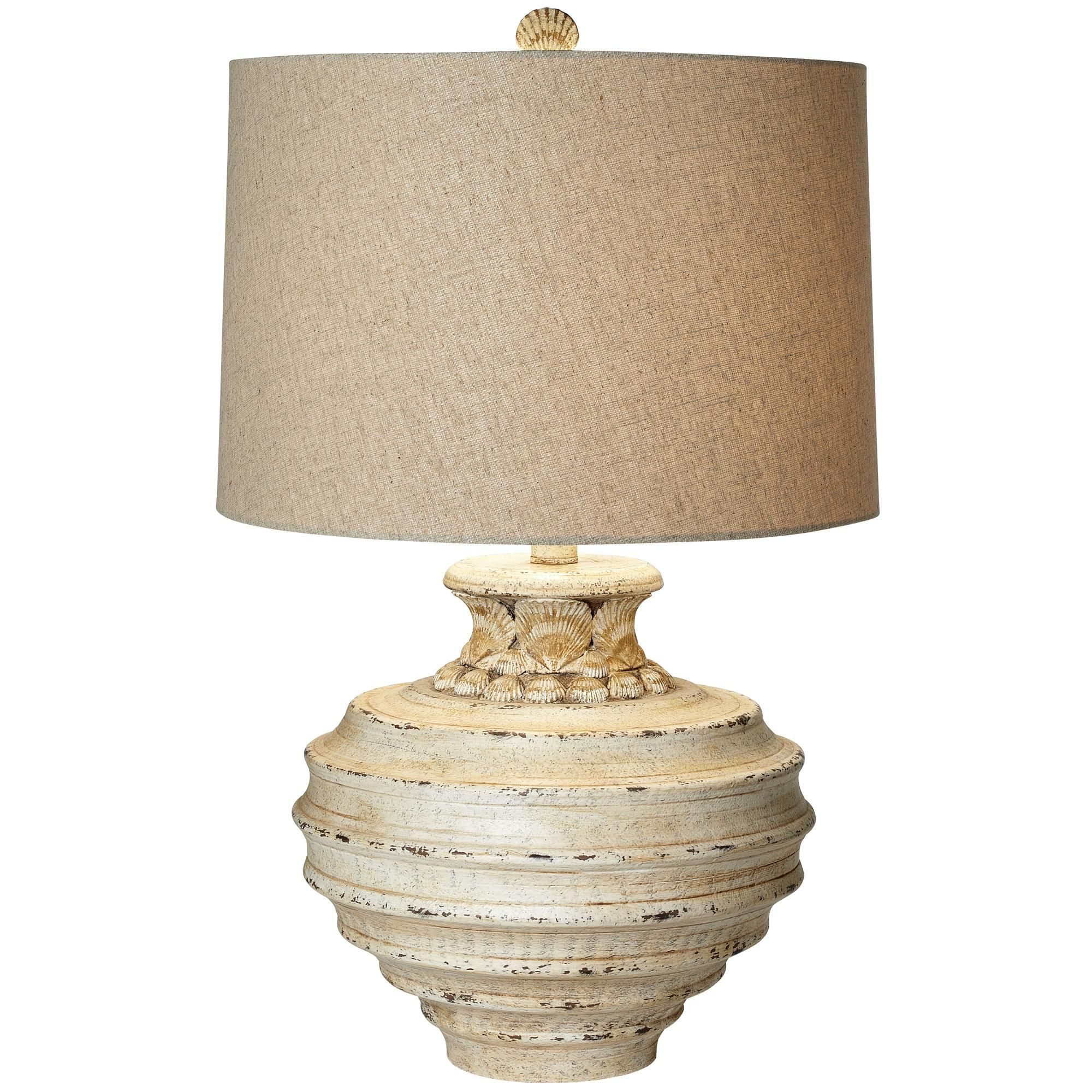 Ocean Crown Sea Shell Table Lamp V2289 Lamps Plus Table Lamp Lamp Beige Table Lamps