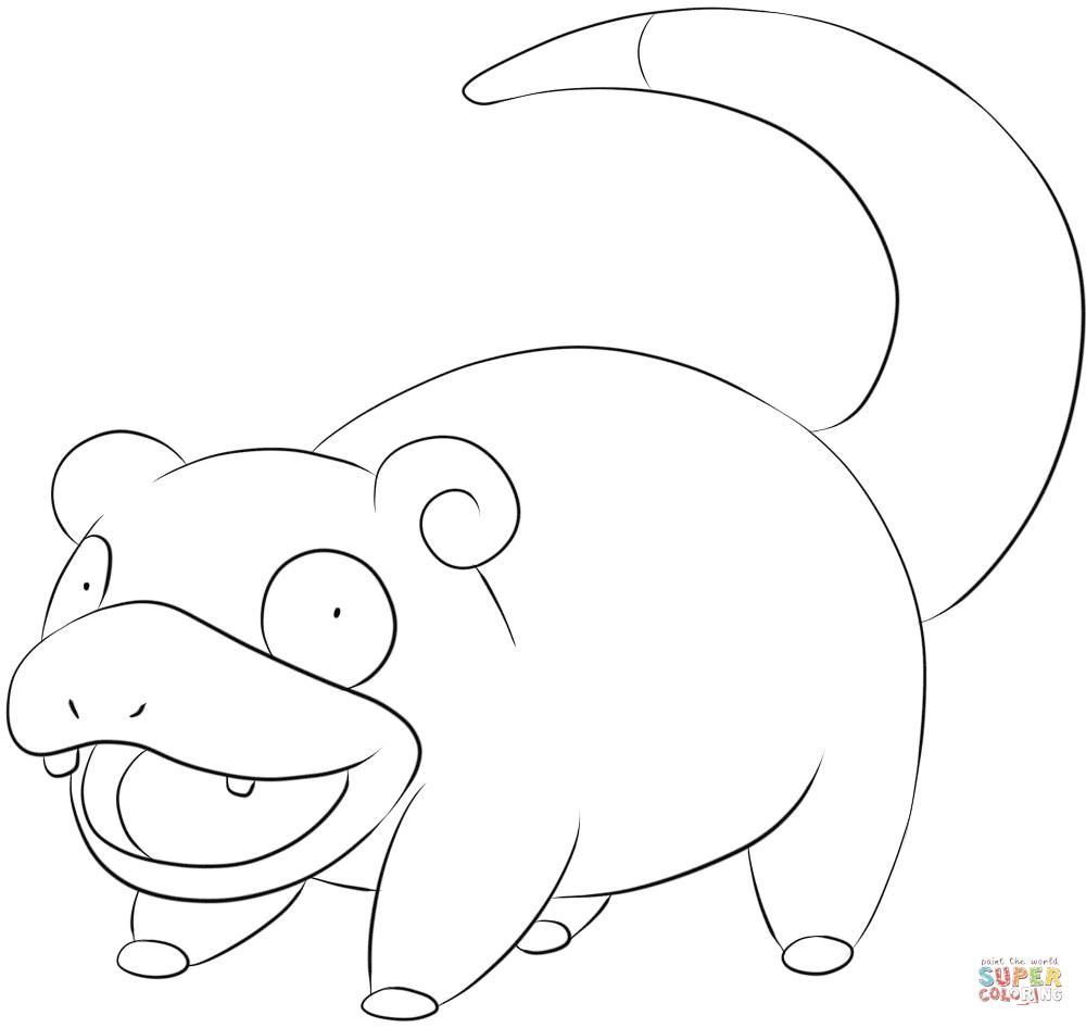 Slowpoke | Super Coloring | Pokemon Go | Pinterest | Pokémon